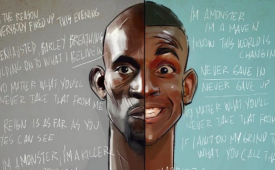 Kevin Garnett 'Rookie vs Veteran' Illustration