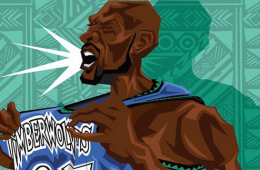Kevin Garnett 'Return of the Wolf' Caricature Art
