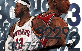 LeBron James vs Michael Jordan Illustration