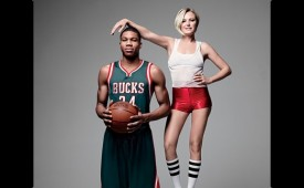 Giannis Antetokounmpo x Malin Akerman In GQ