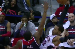 Bradley Beal Gets Posterized by Mike Scott