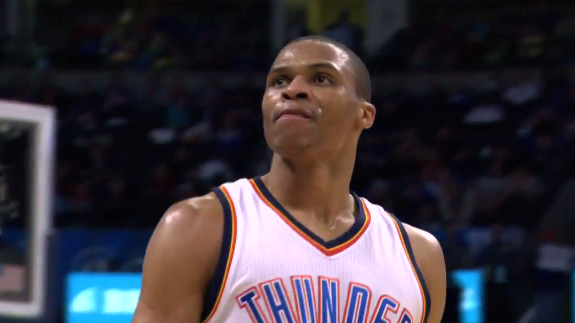 Russell Westbrook Drops 34 and 10 on Mavs