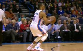 Russell Westbrook with His Third Triple-Double