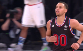 Stephen Curry Dribbling and Circus Shot Expo