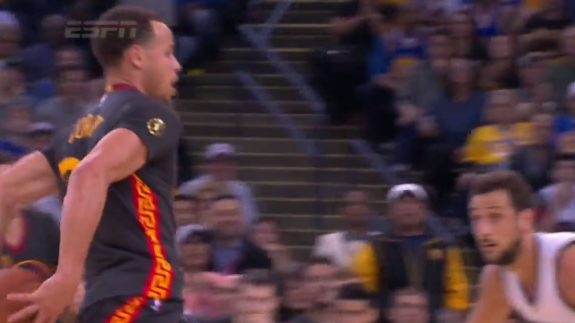 Stephen Curry Goes Behind the Back For Fun