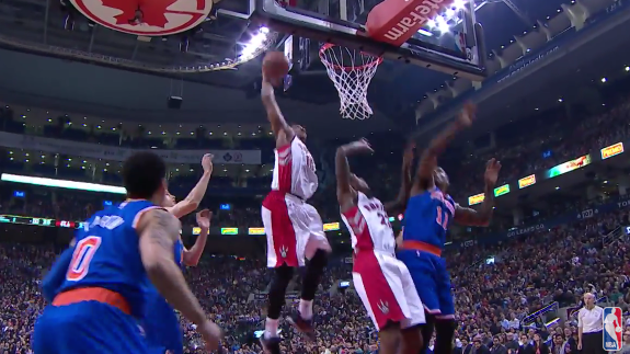 DeMar DeRozan Punches Home the Putback