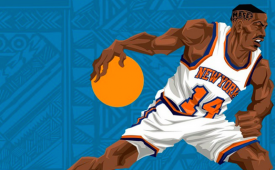 Anthony Mason 'BIG MASE' Caricature Art