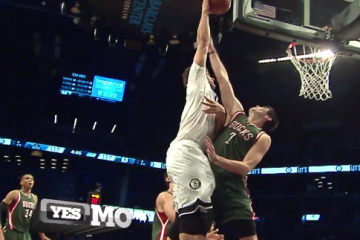 Brook Lopez Bangs On Ersan Ilyasova