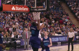 Derrick Williams Dunks All Over Biyombo