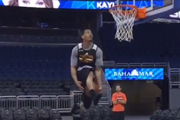 Gerald Green with an Impressive Dunk In His Socks