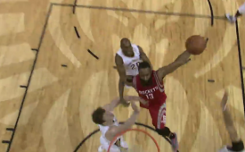 James Harden Puts Three Pelicans On a Poster