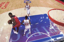 John Wall with an Incredible 360 Layup In Traffic