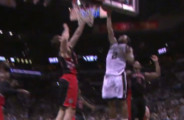 Kawhi Leonard Dunks All Over Tyler Hansbrough