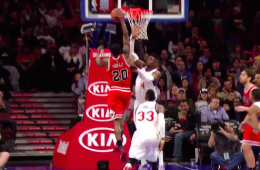 Nerlens Noel Shuts Tony Snell Down at the Rim