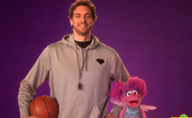 Pau Gasol Coaches Abby Cadabby On Sesame Street
