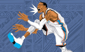 Russell Westbrook 'Russy Season' Caricature Art