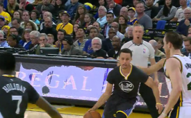 Stephen Curry Makes Amazing Accident Shots Too