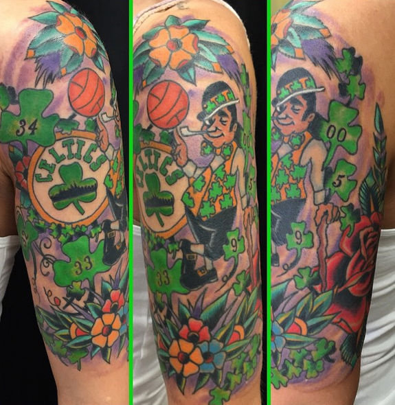 Epic Boston Celtics Tattoo Sleeve
