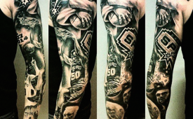 Epic San Antonio Spurs Tattoo Sleeve