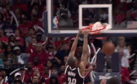 Markel Brown Mashes a Power Follow Slam