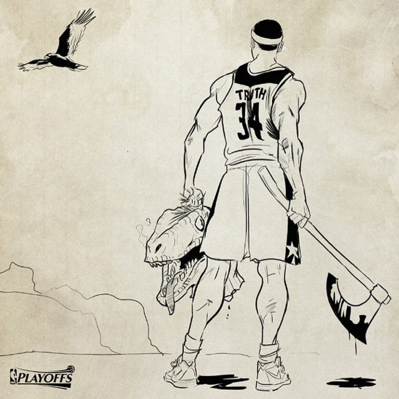 Paul Pierce 'Dino Decapitator' Sketch