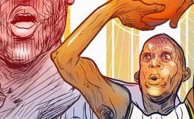 Reggie Miller vs. The Knicks Illustration