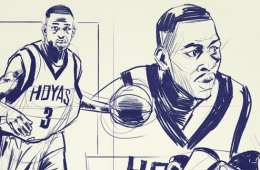 Allen Iverson x Air Jordan 11 Low Georgetown Illustration