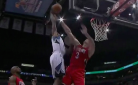 Andrew Wiggins Drops the Hammer On Asik