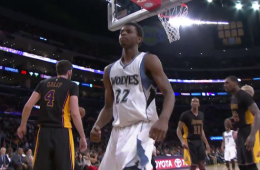 Andrew Wiggins Dunks All Over the Lakers