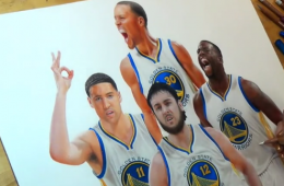 Golden State Warriors Core Four Time Lapse Illustration