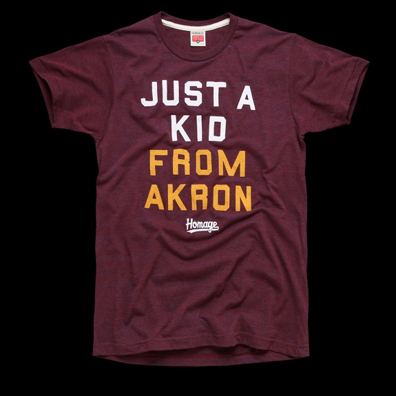 Homage 'Just A Kid From Akron' Tee