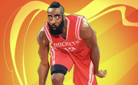 James Harden 'Low Three' Illustration