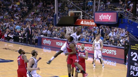 Jeff Green Dunks All Over Seraphin