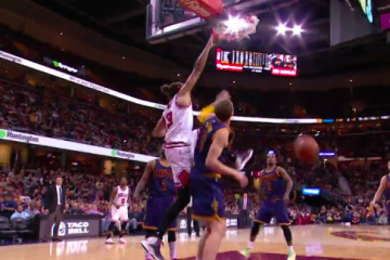 Joakim Noah Dunks on Mt. Mozgov