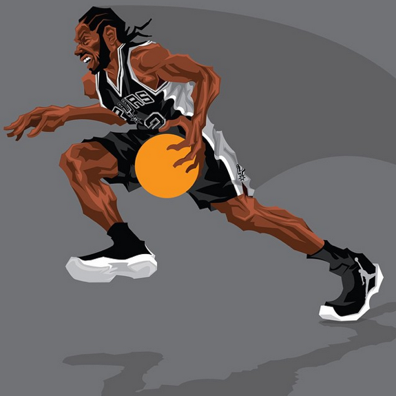 Kawhi Leonard 'Attacking Claw' Caricature Art