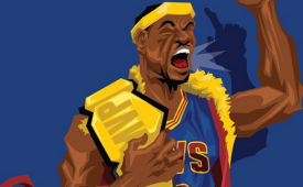 LeBron James 'Nature Boy' Caricature Art