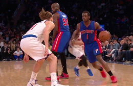 Reggie Jackson Dunks All Over Lou Amundson