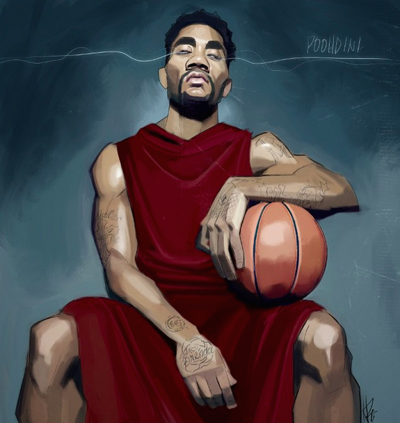 Derrick Rose 'Electric Eyes' Illustration
