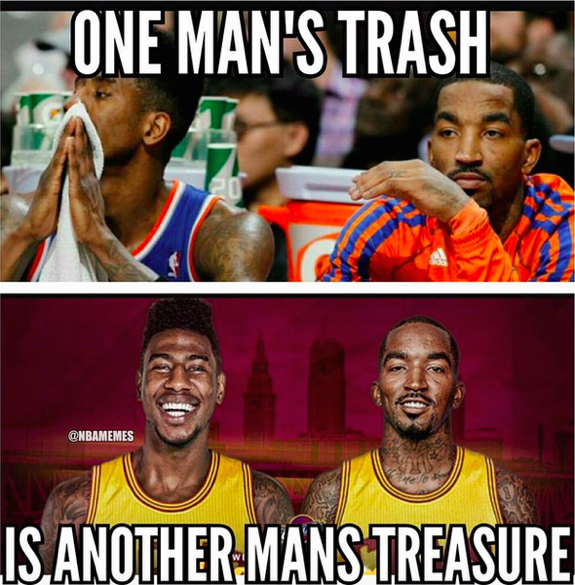 JR Smith Throws Shade at the Knicks Via Instagram