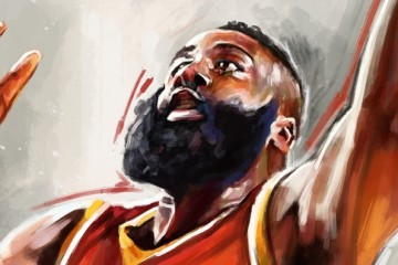 James Harden 'NBA Playoffs' Painting