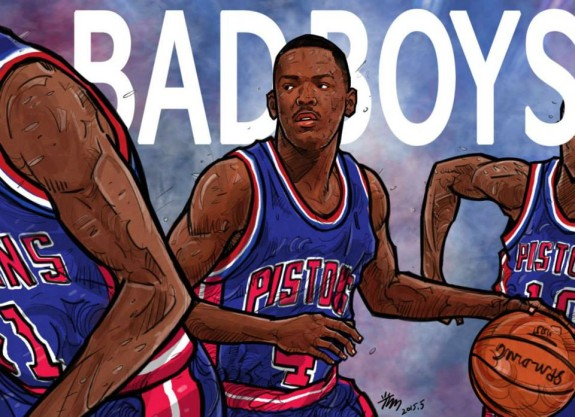 Joe Dumars 'Bad Boys' Illustration