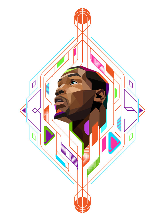 Kevin Durant Low Poly Illustration