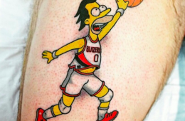 Lenny From The Simpsons x Blazers Tattoo