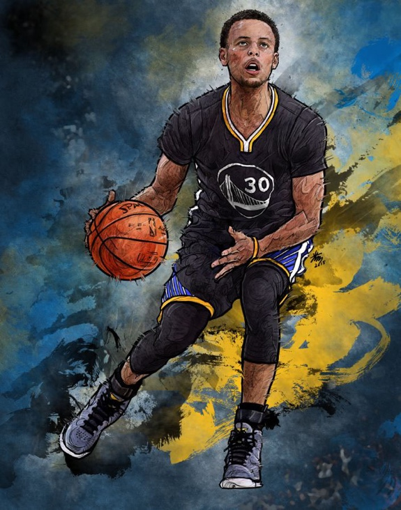 fd4042466bbe Stephen Curry  Keep It Moving  Illustration – Hooped Up