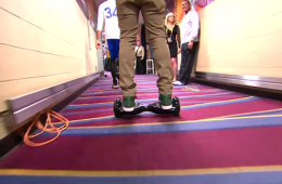 JR Smith Arrives For Game 4 on Motorized Scooter