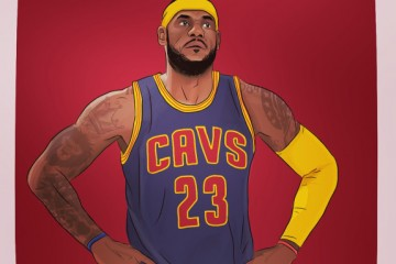 LeBron James 'Agony of Defeat' Illustration
