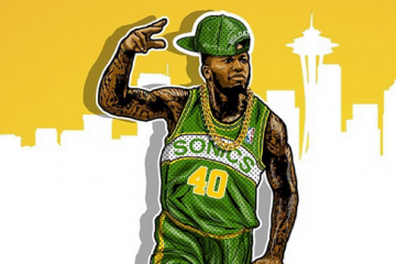 Nate Robinson Seattle SuperSonics Illustration
