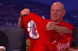 Steve Ballmer Unveils New LA Clippers Logo on CONAN