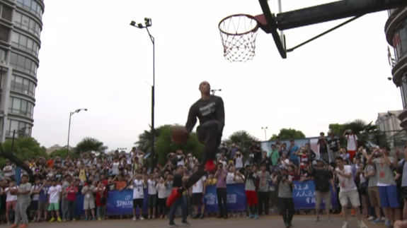 Zach LaVine Takes His Dunk Show To China
