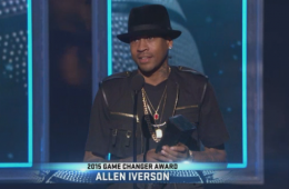 Allen Iverson Receives the 2015 Game Changer Award